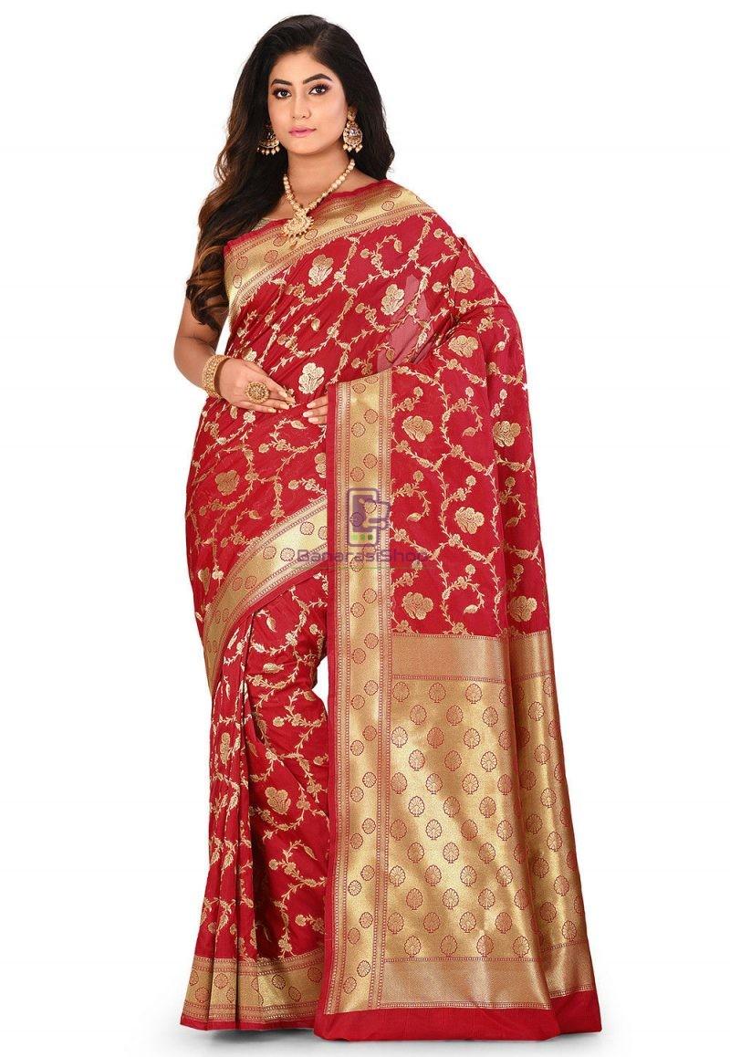 Banarasi Saree in Red 1