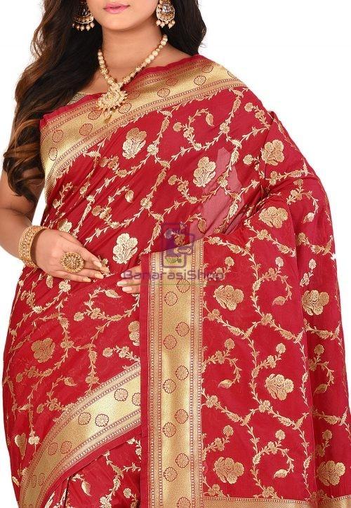 Banarasi Saree in Red 5