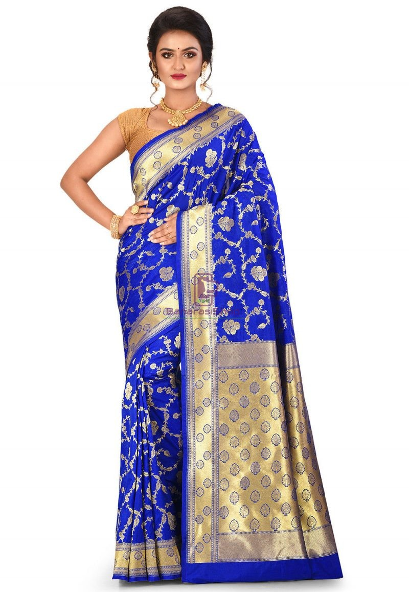 Banarasi Saree in Royal Blue 1