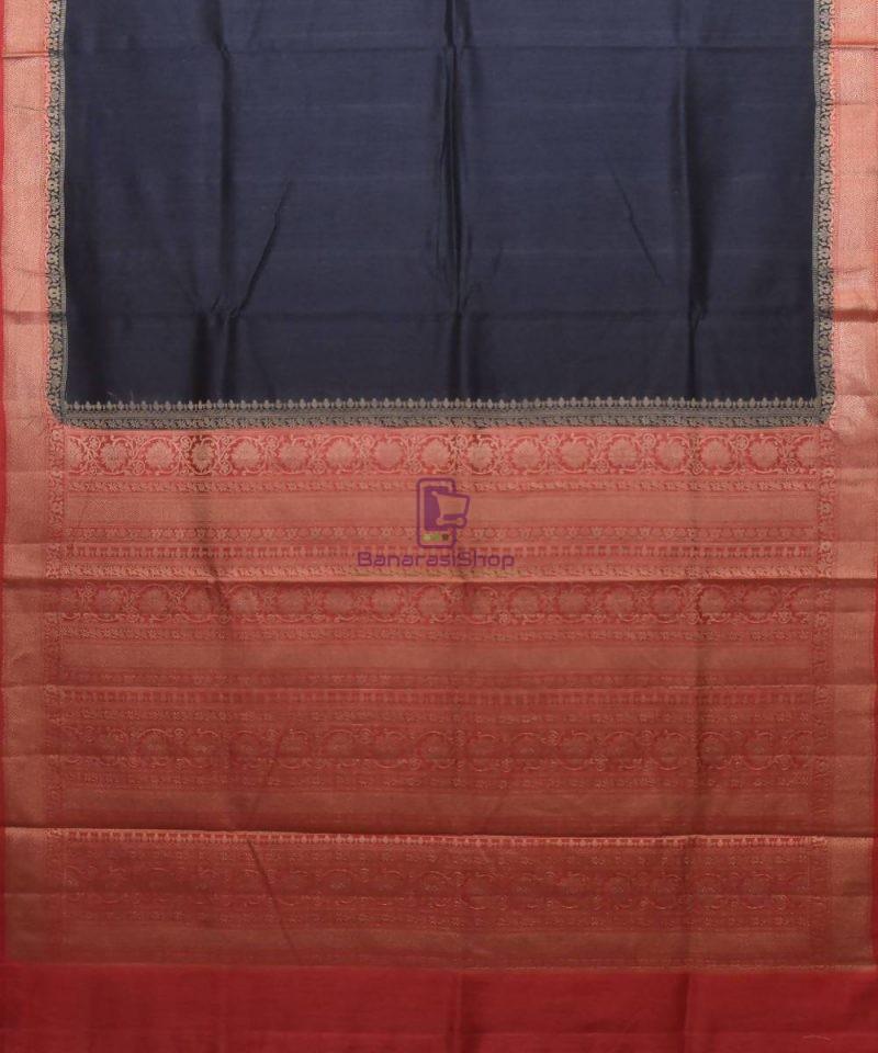 Woven Pure Muga Silk Banarasi Saree in Black 1