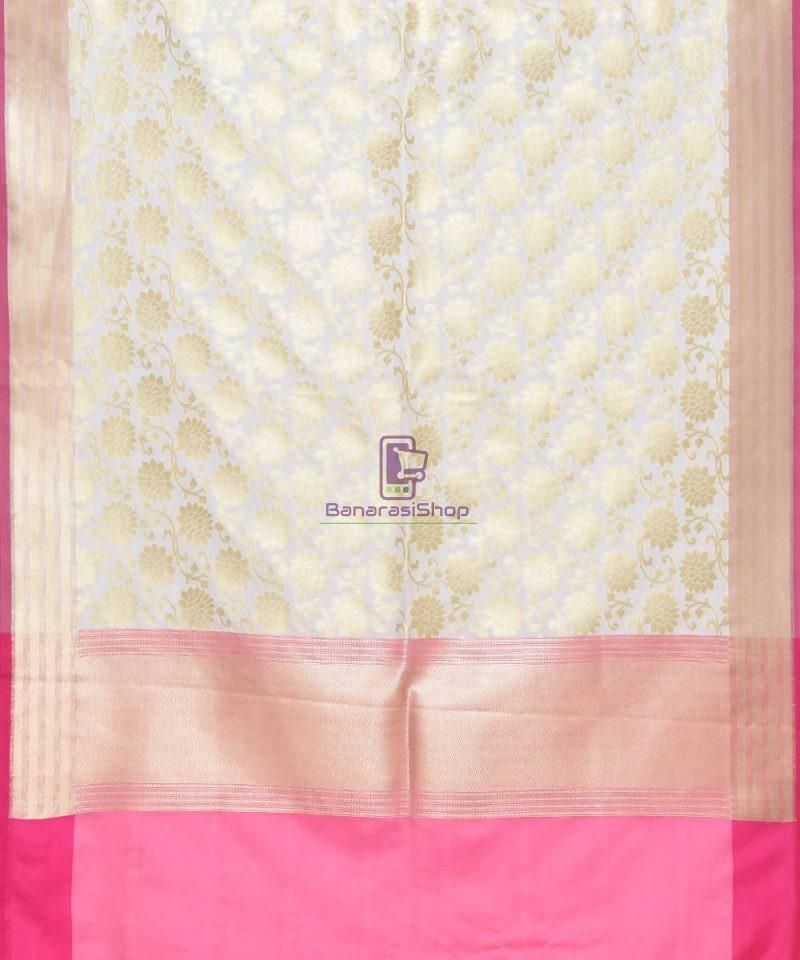 Woven Banarasi Art Silk Dupatta in Off White 2