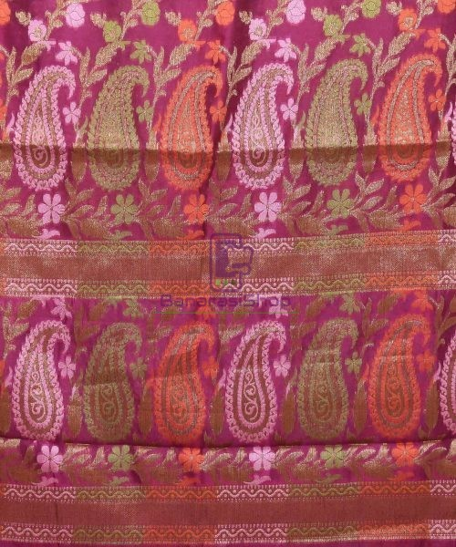Pure Silk Banarasi Dupion Katan Handloom Saree in Wine Purple 6