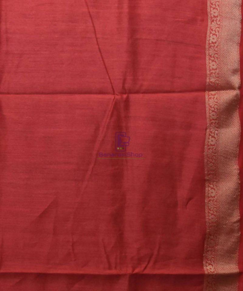 Woven Pure Muga Silk Banarasi Saree in Black 4