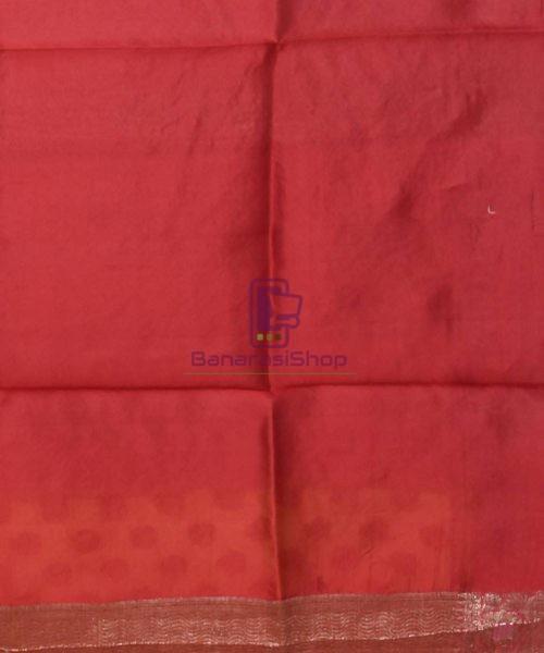 Pure Silk Banarasi Dupion Katan Handloom Saree in Merigold 7