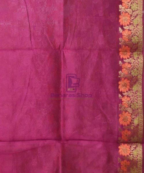 Pure Silk Banarasi Dupion Katan Handloom Saree in Wine Purple 7