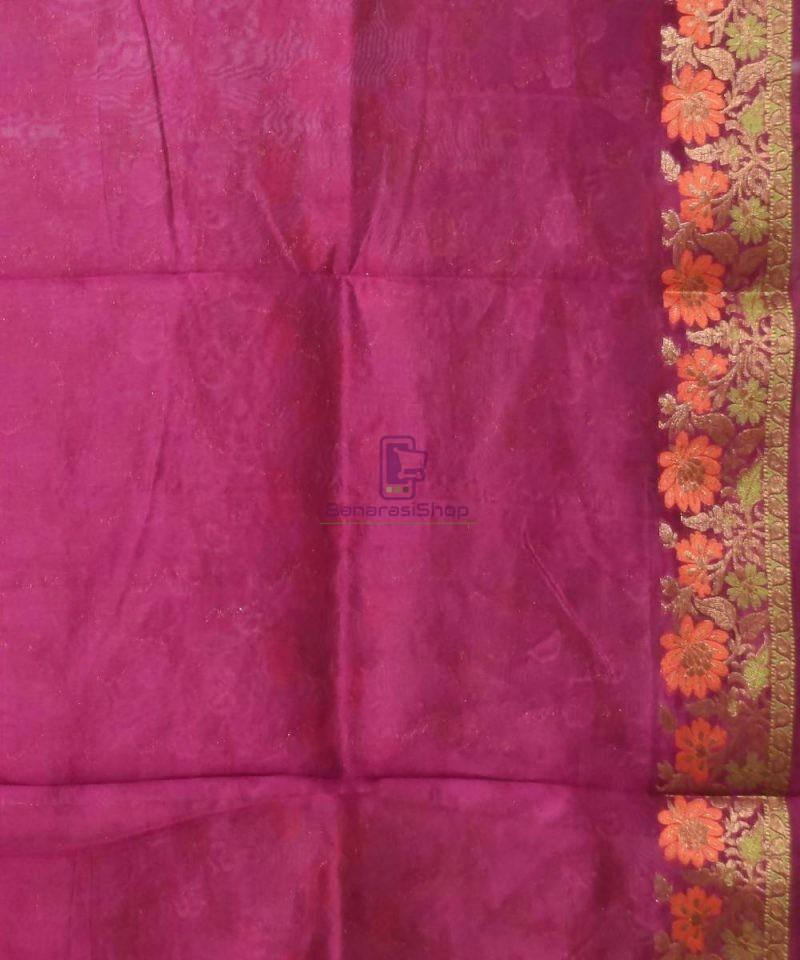 Pure Silk Banarasi Dupion Katan Handloom Saree in Wine Purple 4