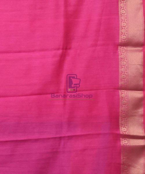 Woven Pure Muga Silk Banarasi Saree in Navy Blue 7
