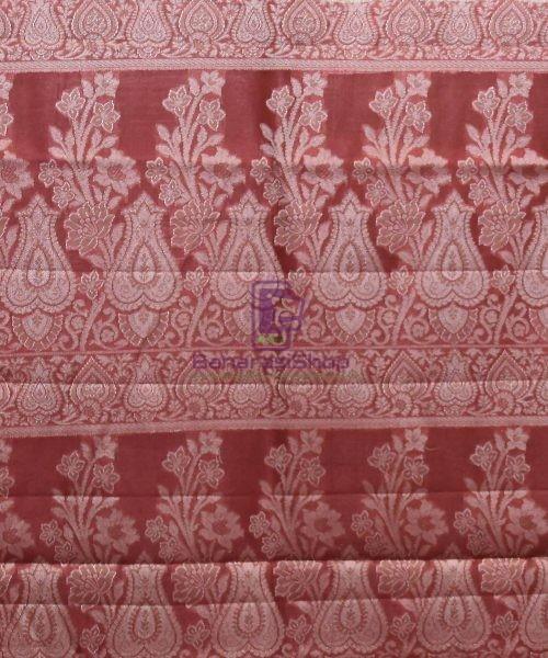 Woven Pure Tussar Silk Banarasi Saree in Cream 7