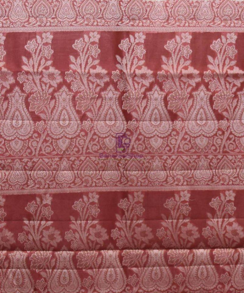 Woven Pure Tussar Silk Banarasi Saree in Cream 4