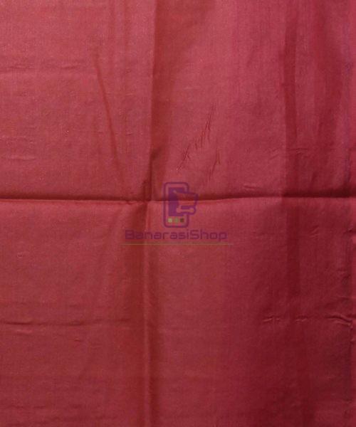 Woven Pure Tussar Silk Banarasi Saree in Olive Green 7