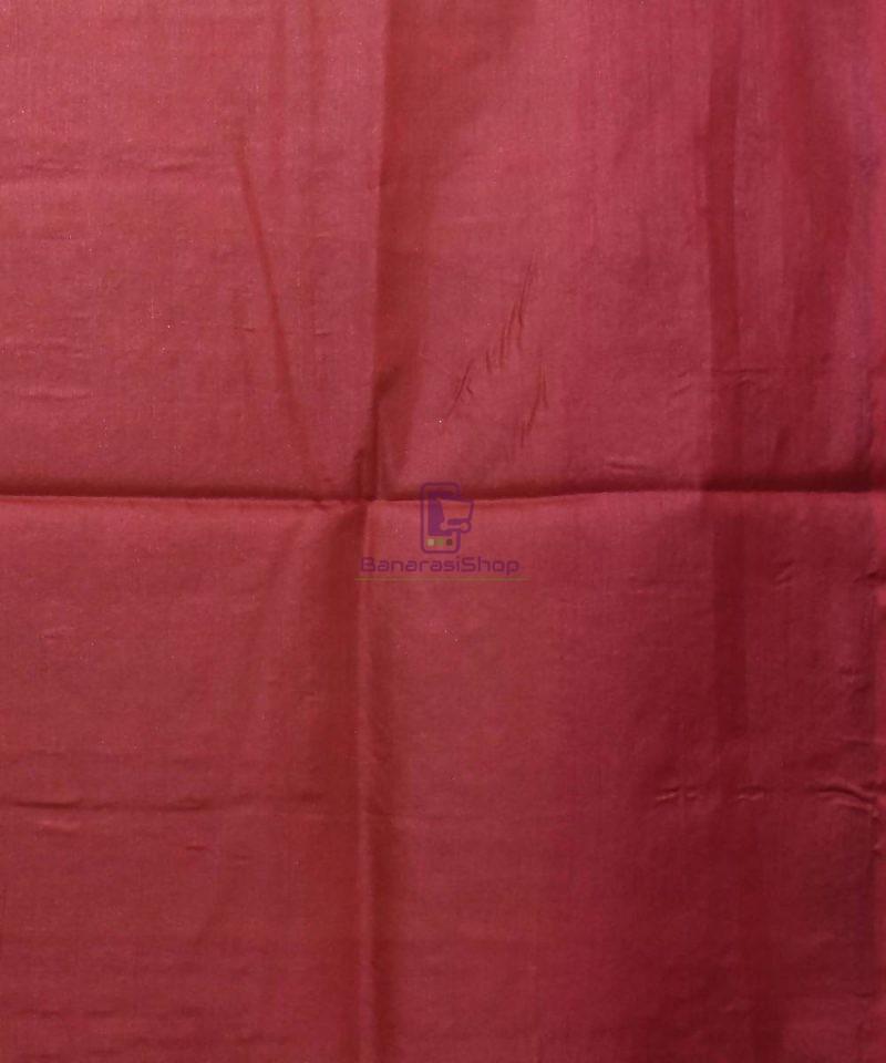 Woven Pure Tussar Silk Banarasi Saree in Olive Green 4