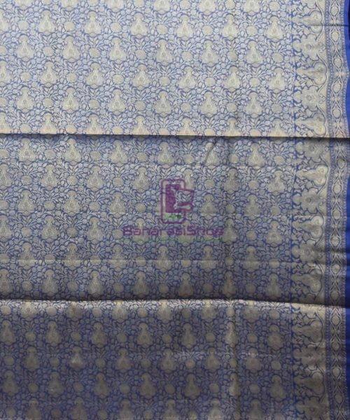 Woven Pure Tussar Silk Banarasi Saree in Fuschia Pink 7