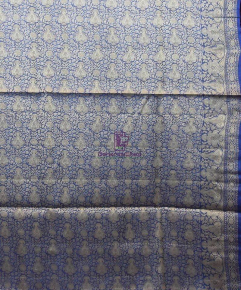 Woven Pure Tussar Silk Banarasi Saree in Fuschia Pink 4