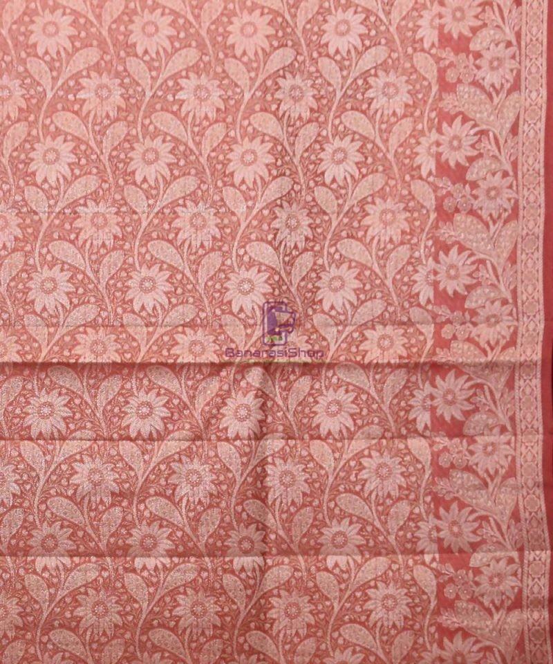 Woven Pure Tussar Silk Banarasi Saree in Butter Yellow 4