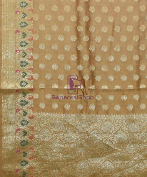 Pure Woven Banarasi Dupion Silk Saree with Unstitched Blouse Fabric 5