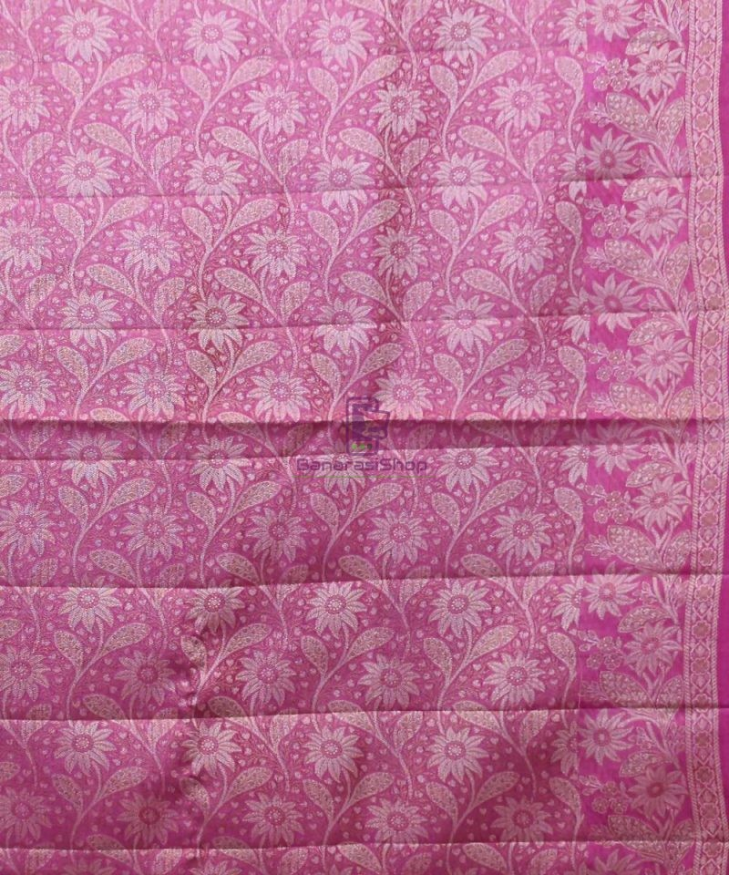 Woven Pure Tussar Silk Banarasi Saree in Royal Blue 3