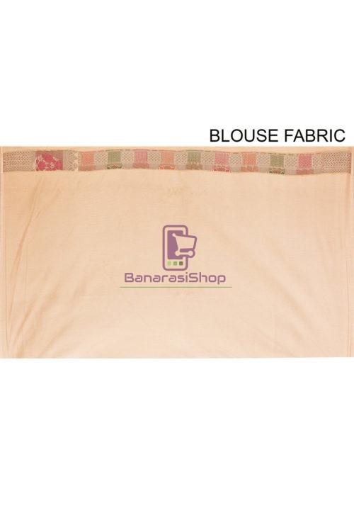 Woven Banarasi Cotton Silk Saree in Beige 7