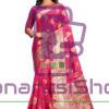 Woven Banarasi Cotton Silk Saree in Fuchsia 9