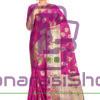Woven Banarasi Cotton Silk Saree in Magenta 8