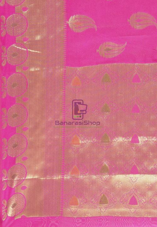 Woven Banarasi Cotton Silk Saree in Magenta 6