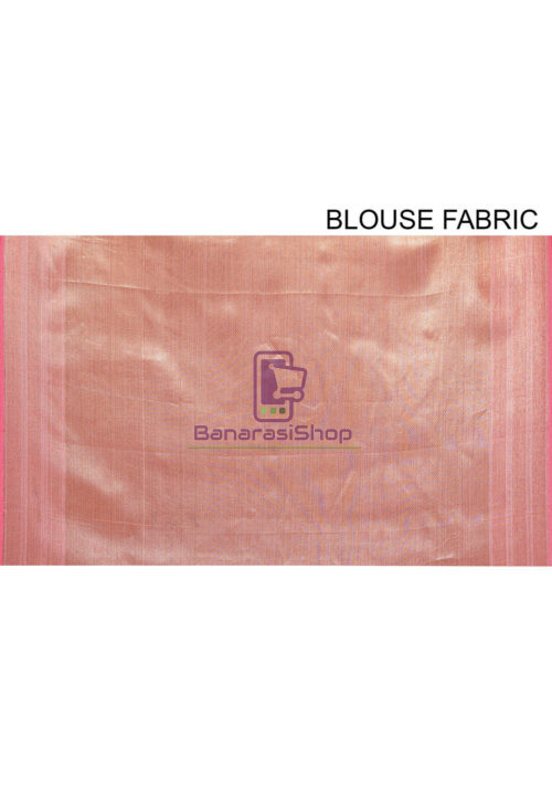 Woven Cotton Silk Saree in Pink 7