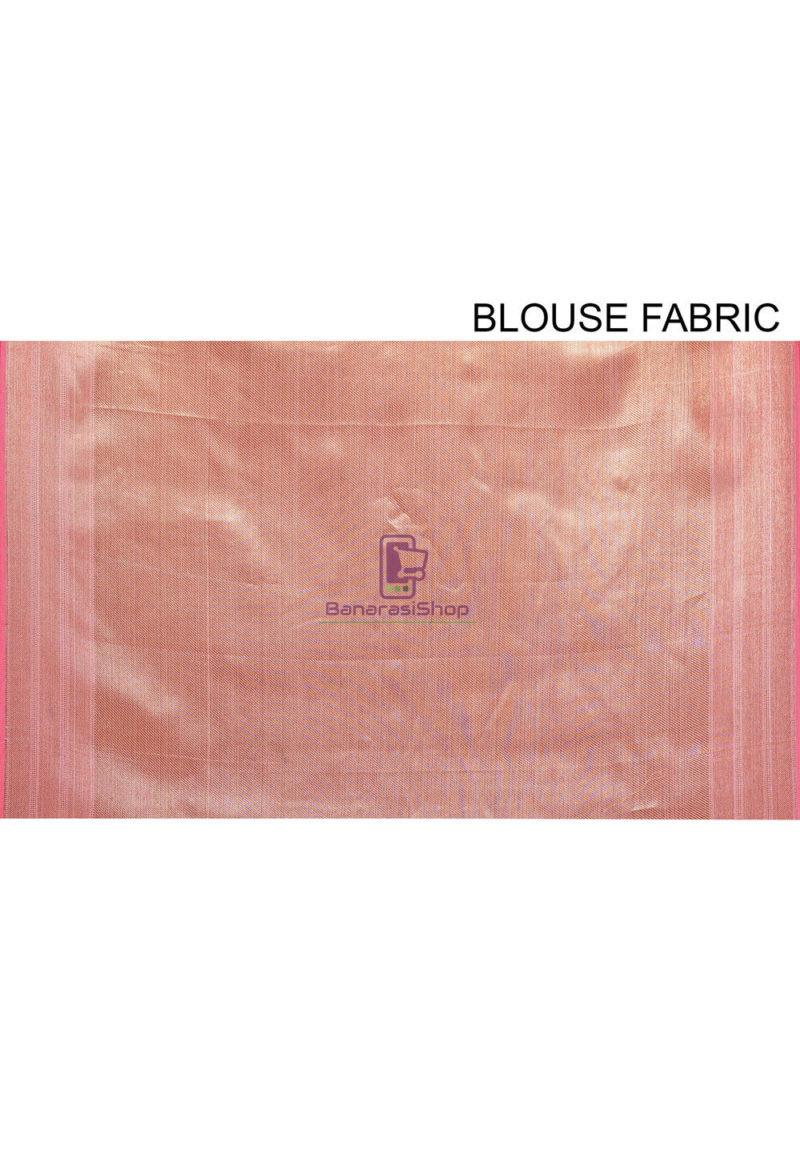 Woven Cotton Silk Saree in Pink 4