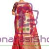 Woven Banarasi Cotton Silk Saree in Red 9