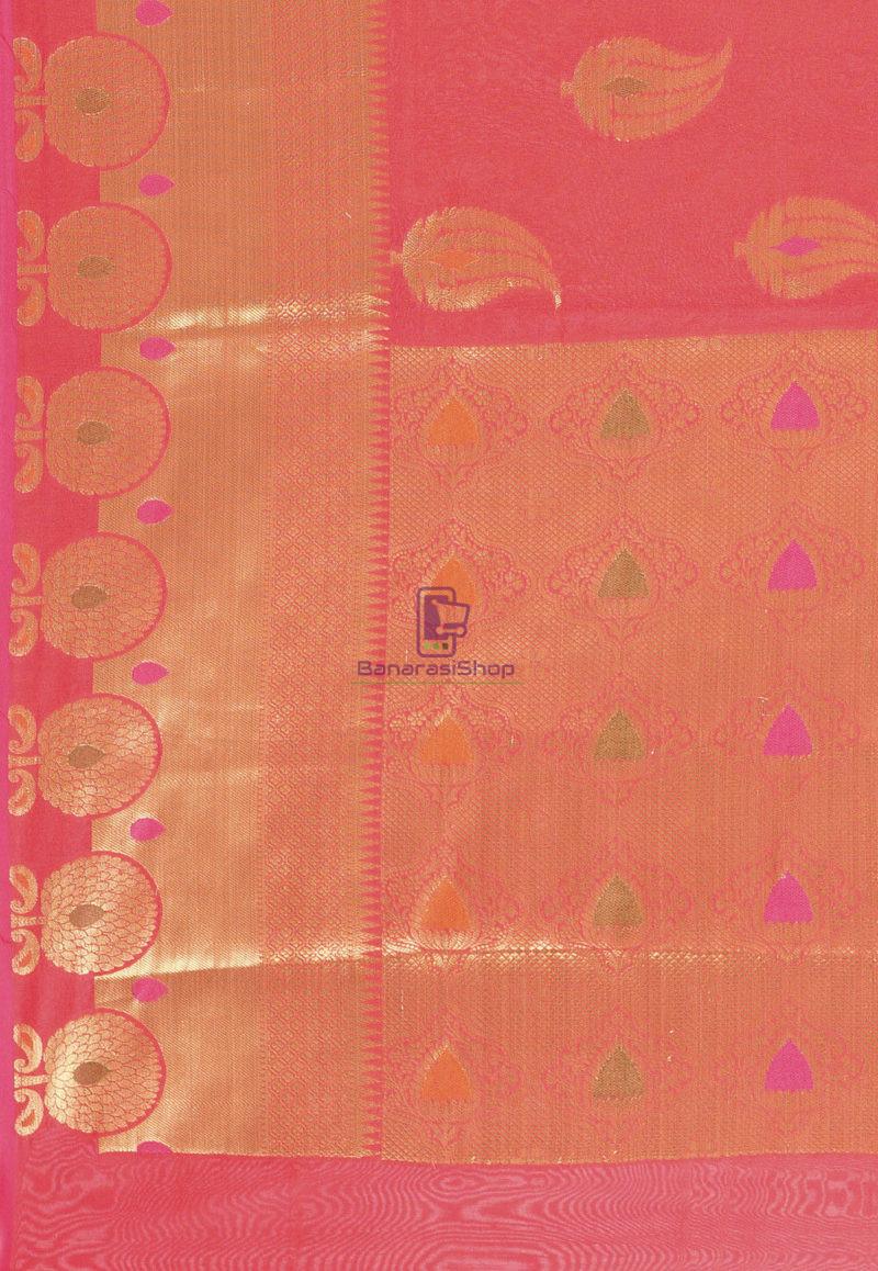 Woven Banarasi Cotton Silk Saree in Red 3