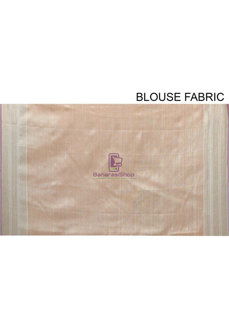 Woven Banarasi Cotton Silk Saree in Teal Blue 4