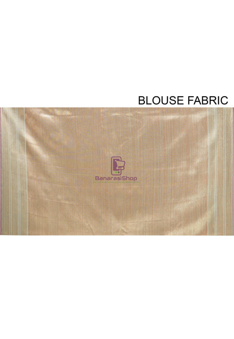 Woven Banarasi Cotton Silk Saree in Teal Green 4