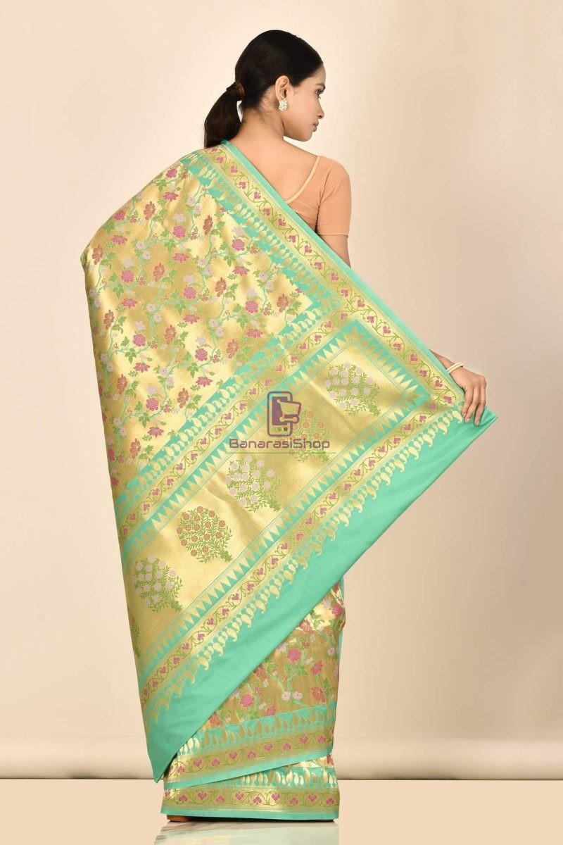 Banarasi Tissue Silk Minedar Saree with Running Blouse Fabric 3
