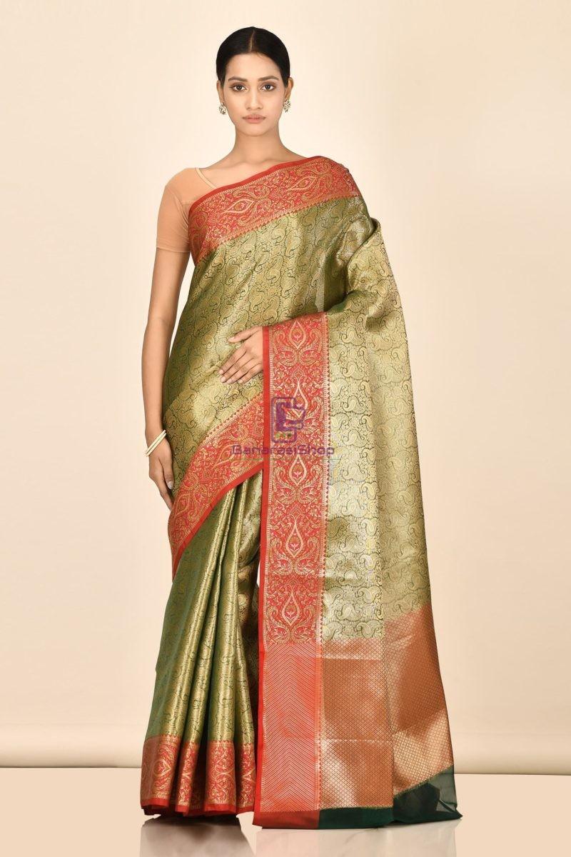 Banarasi Tissue Silk Saree with Running Blouse Fabric 1