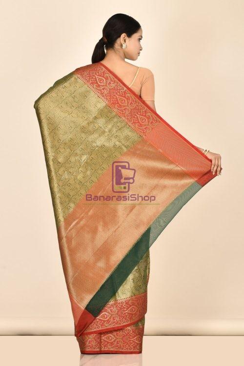 Banarasi Tissue Silk Saree with Running Blouse Fabric 6