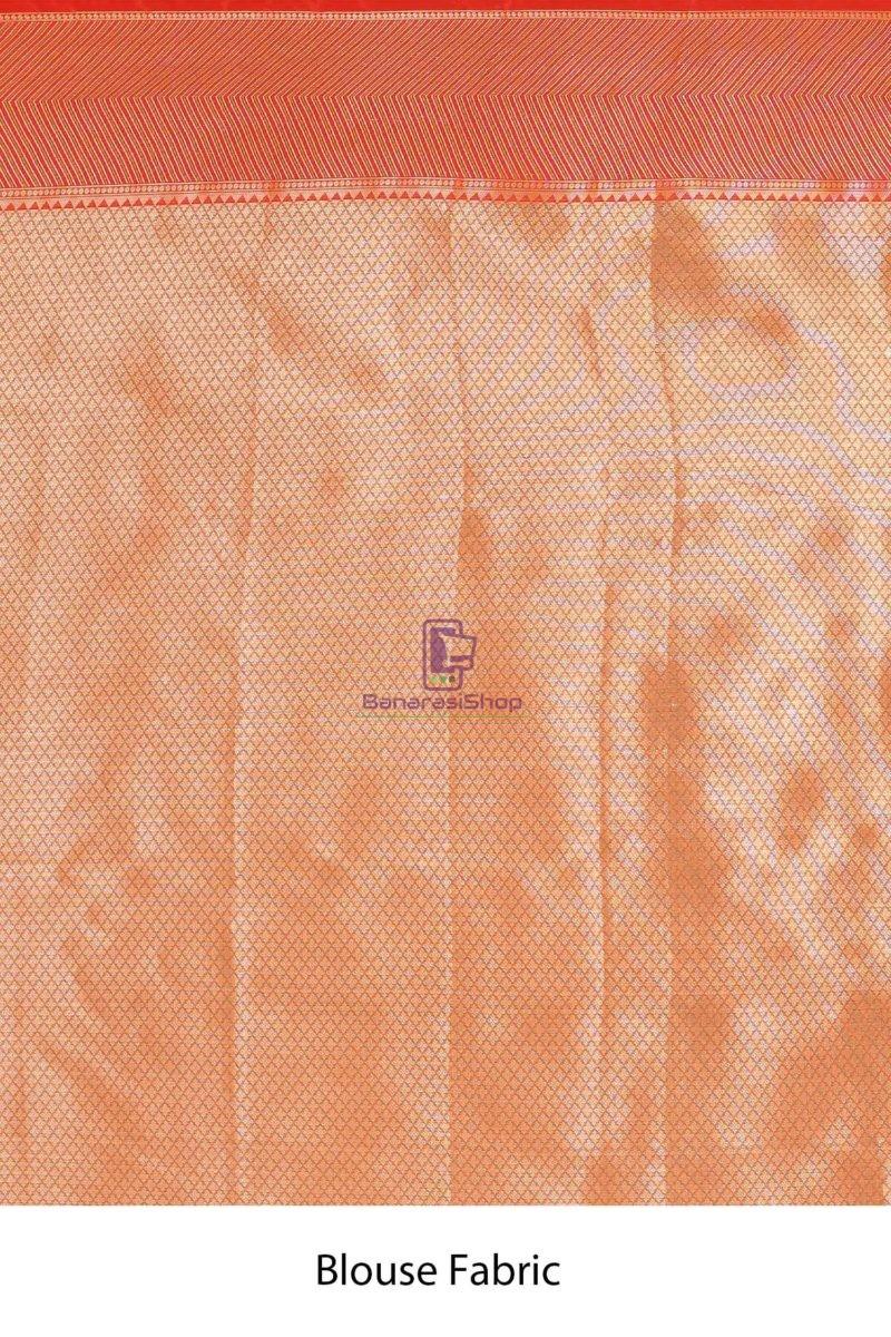 Banarasi Tissue Silk Saree with Running Blouse Fabric 4