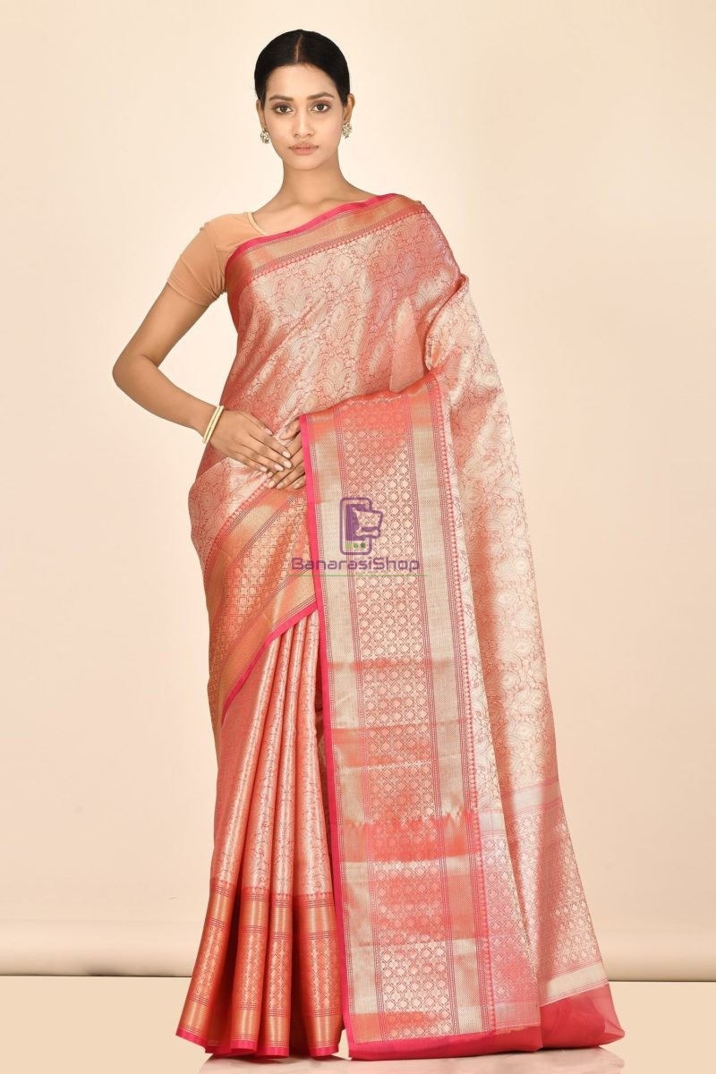 Banarasi Tissue Silk Saree with Running Blouse Fabric 1
