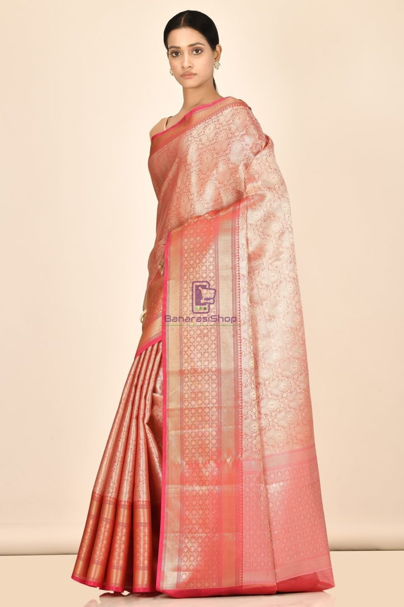 Banarasi Tissue Silk Saree with Running Blouse Fabric 2