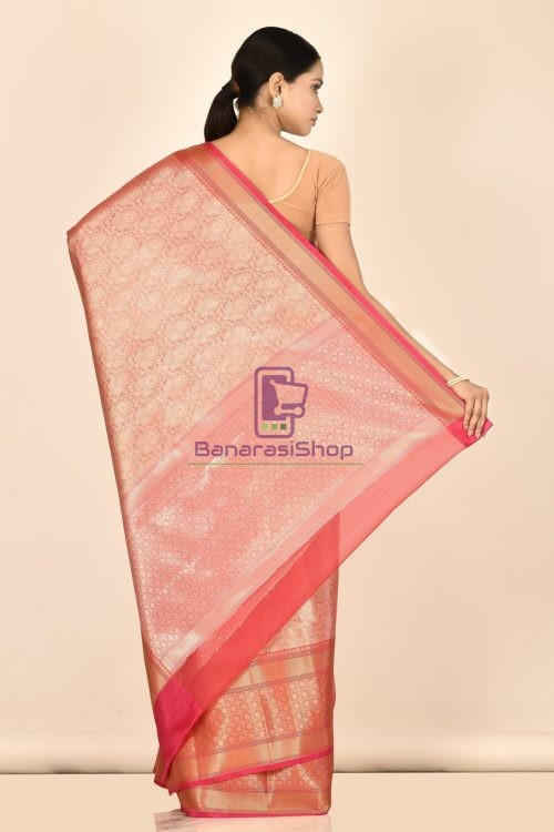 Banarasi Tissue Silk Saree with Running Blouse Fabric 6