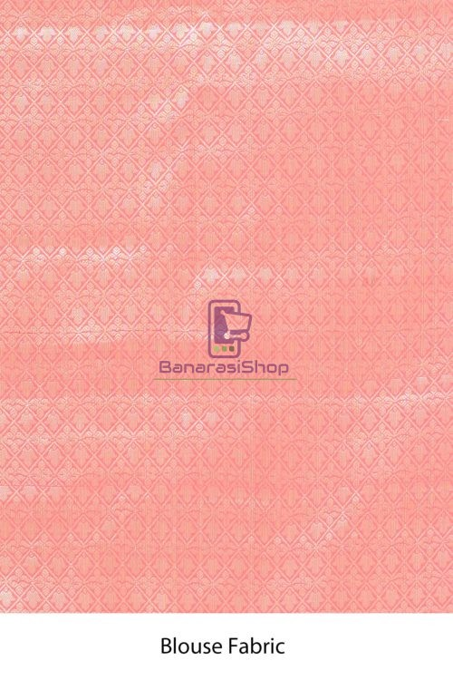 Banarasi Tissue Silk Saree with Running Blouse Fabric 7