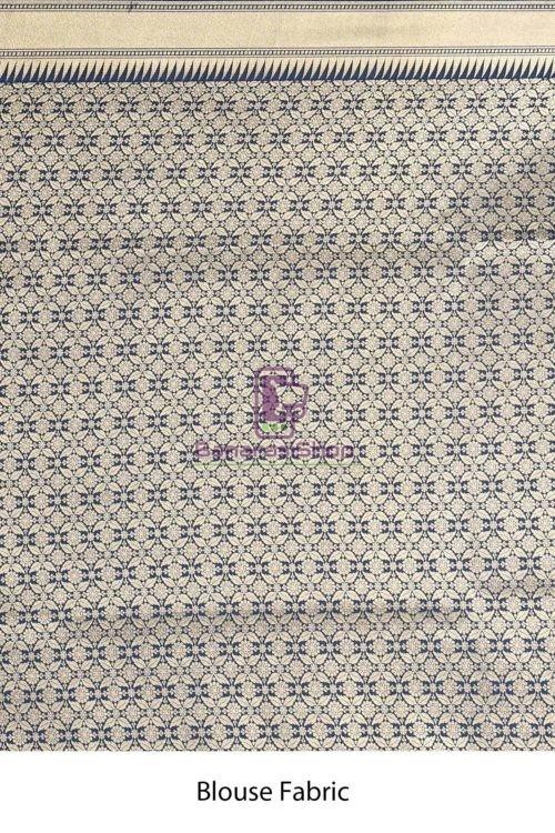 Woven Banarasi Semi Silk Minedar Saree 7