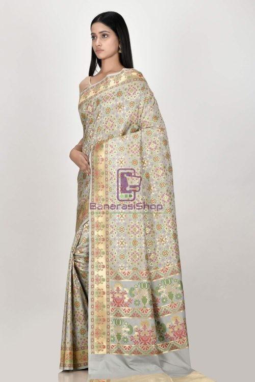 Woven Banarasi Semi Silk Minedar Saree 5