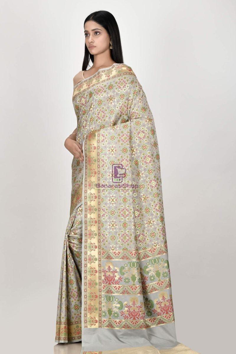 Woven Banarasi Semi Silk Minedar Saree 2