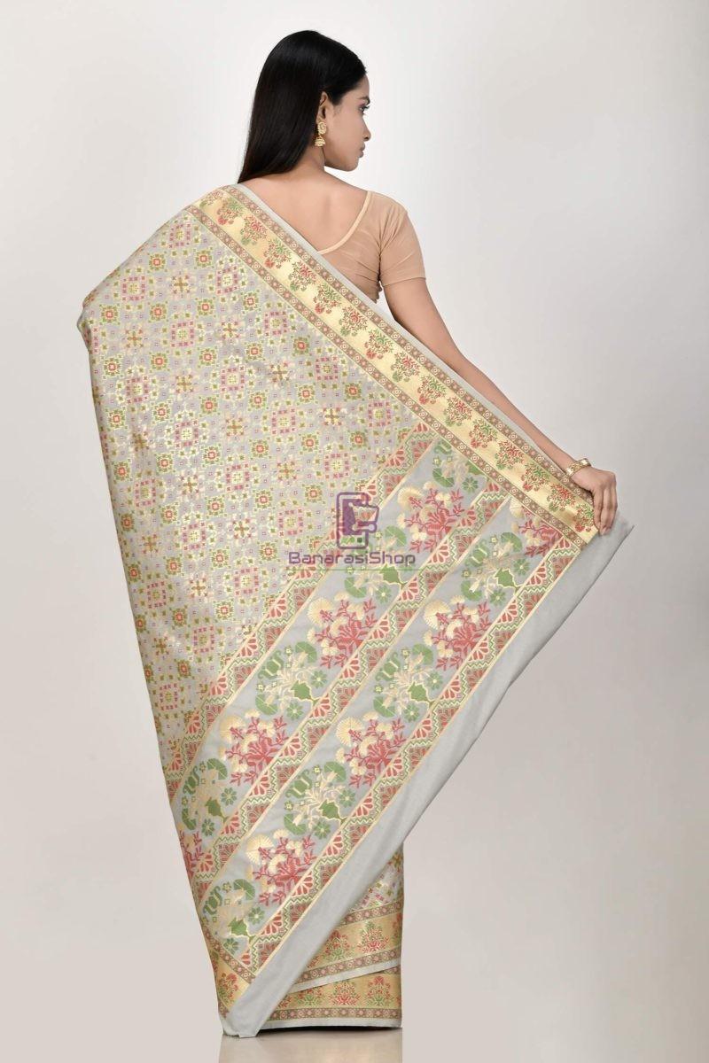 Woven Banarasi Semi Silk Minedar Saree 3