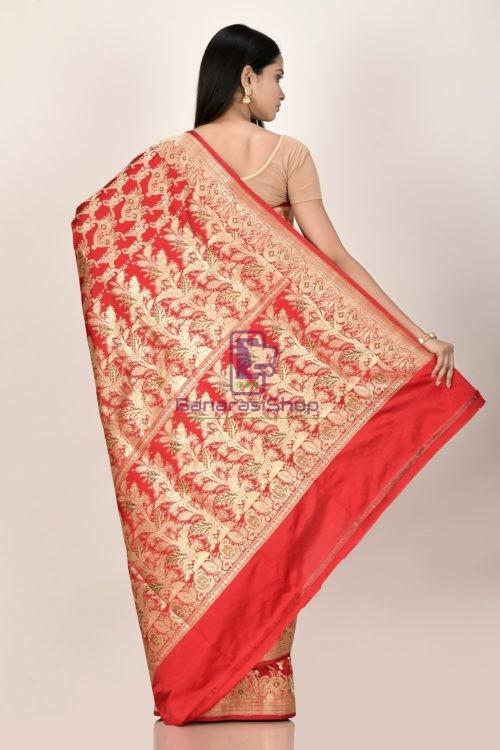 Banarasi Pure Katan Silk Jangla Minedar Wedding Handloom Saree 6
