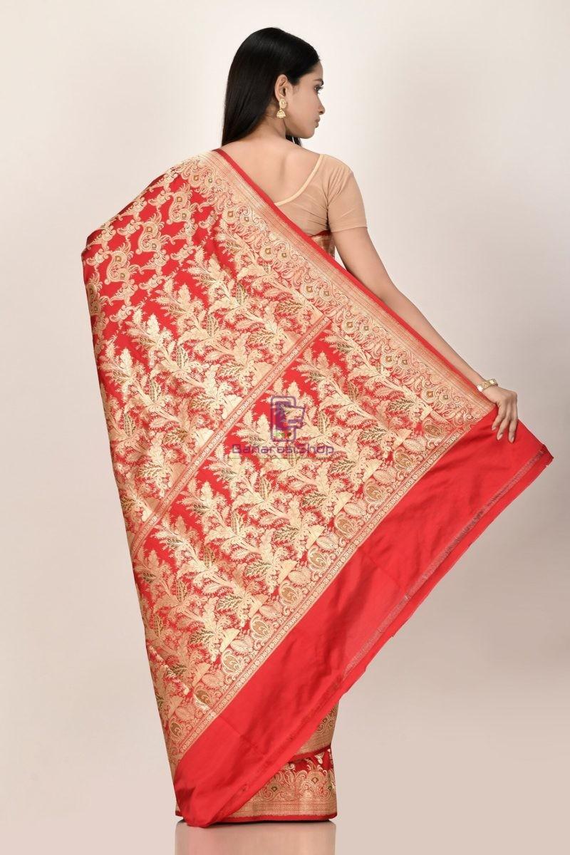 Banarasi Pure Katan Silk Jangla Minedar Wedding Handloom Saree 3