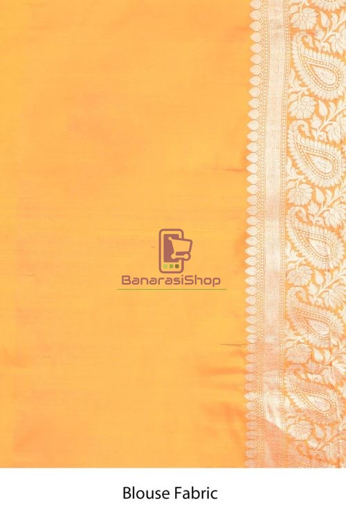 Handloom Banarasi Kadhuwa Katan Silk Saree with Running Blouse Fabric 7