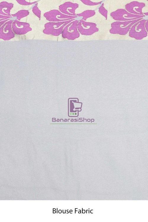 Banarasi Pure Net Silk Handloom Saree in Grey 7