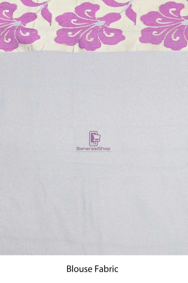 Banarasi Pure Net Silk Handloom Saree in Grey 4