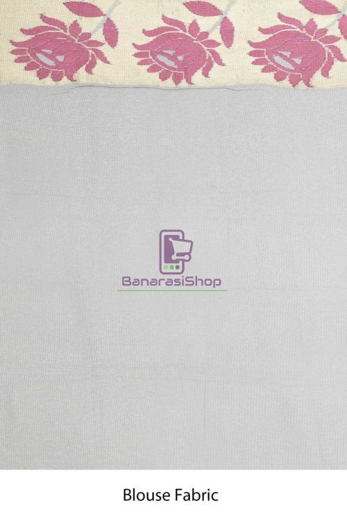 Banarasi Pure Net Silk Handloom Saree in Pastel 7
