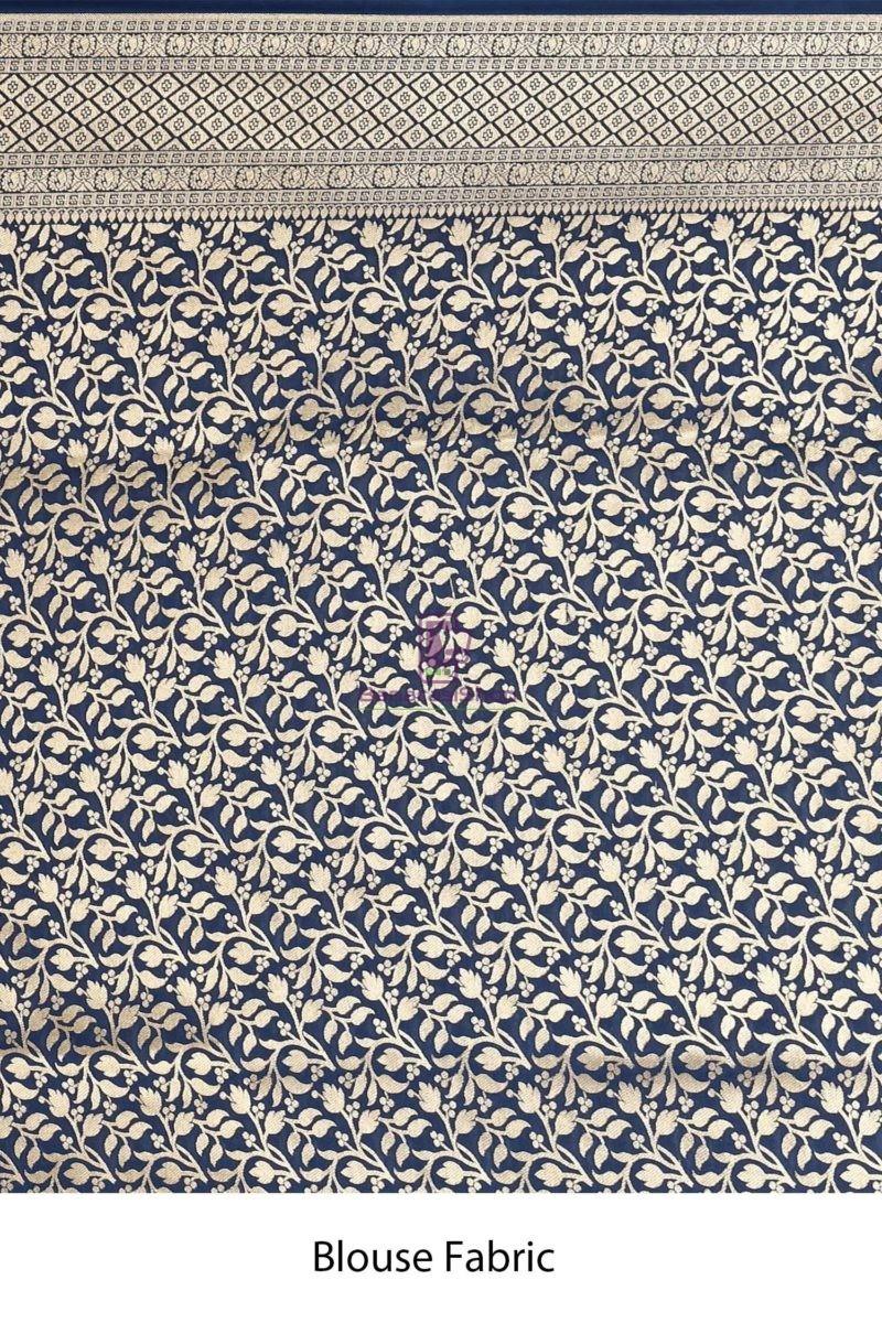 Woven Banarasi Semi Silk Minedar Saree 4